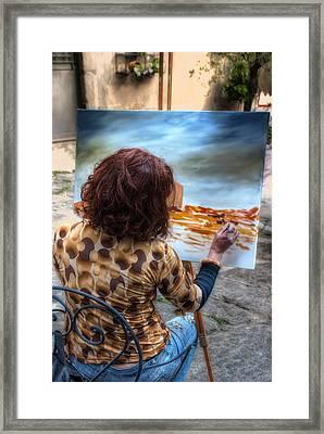 Painter To The Canvas Framed Print by Leonardo Marangi