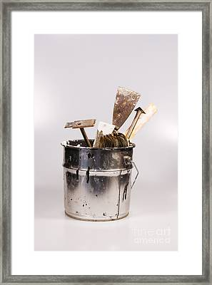Painter's Tools Framed Print by Patricia Hofmeester
