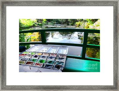 Painting In Giverny Framed Print by Olivier Le Queinec
