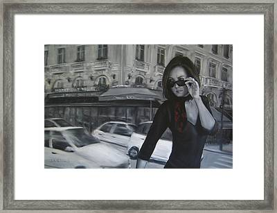 Painting In Motion Framed Print by Junko Van Norman