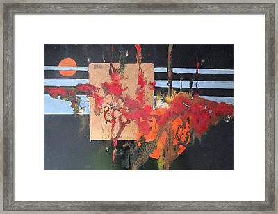 Painting Is Poetry Which Is Seen And Not Heartd Framed Print by Patricia Mayhew Hamm