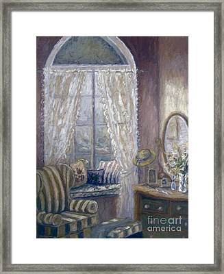 Painting Of A Child's Bedroom/ Digitally Altered Framed Print by Sandra Cunningham
