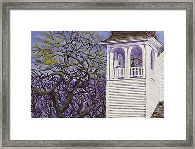 Country Church And Old Tree In Rural Maine Framed Print by Keith Webber Jr