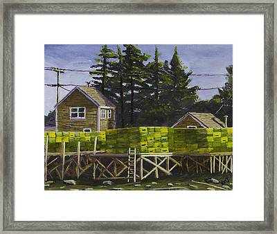 Lobster Traps In Port Clyde Maine Framed Print by Keith Webber Jr