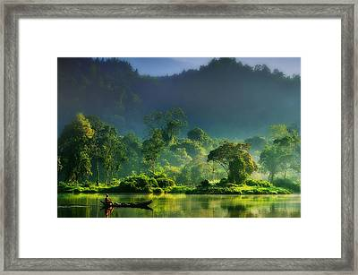 Painting Of  Nature Framed Print by Hardibudi