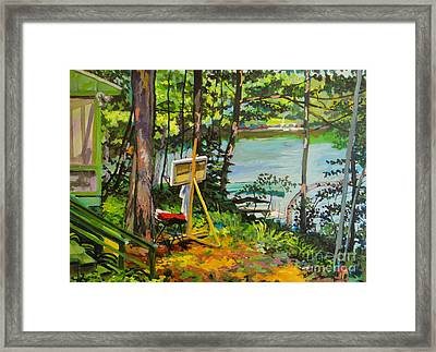 Painting Site Framed Print by William Bukowski