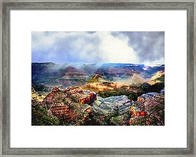 Painting The Grand Canyon Framed Print by Bob and Nadine Johnston