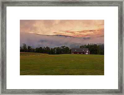 Painting With The Colors Of The Clouds Framed Print by Kathleen Odenthal