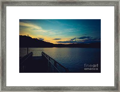 Paintsville Lake Framed Print by Lena Auxier
