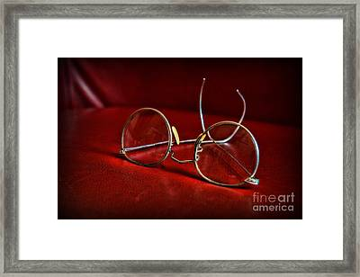 Pair Of Glasses - Optician Framed Print by Paul Ward