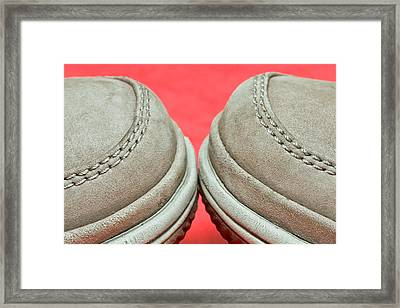 Pair Of Shoes Framed Print by Tom Gowanlock