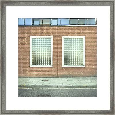 Pair Of Windows Framed Print by Tom Gowanlock