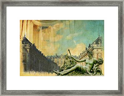 Palace And Park Of Versailles Unesco World Heritage Site Framed Print by Catf