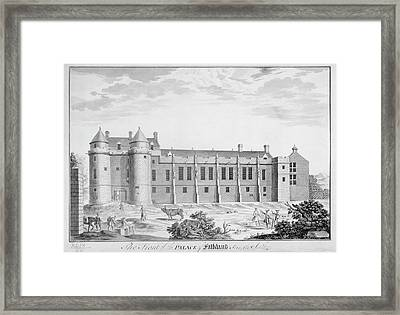 Palace Of Falkland Framed Print by British Library