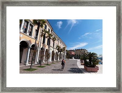 Palace Of The Magnifica Patria, Salo Framed Print by Sergio Pitamitz