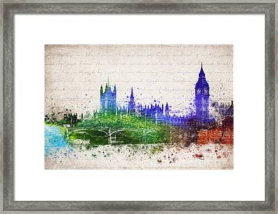 Palace Of Westminster Framed Print by Aged Pixel
