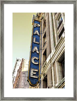 Palace Theater In Downtown Los Angeles Framed Print by Gregory Dyer