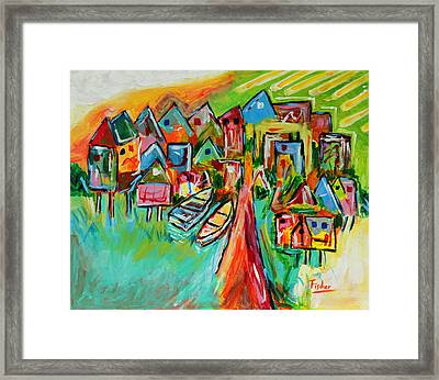 Palafites In Greater Island Of Chiloe Framed Print by Rafael Fischer