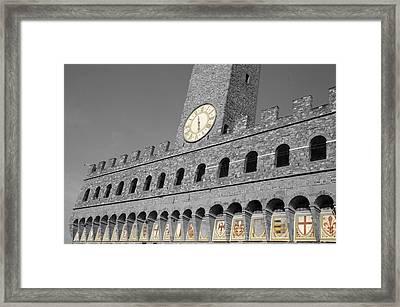 Palazzo Vecchio At Florense Framed Print by Aleksandar Hajdukovic
