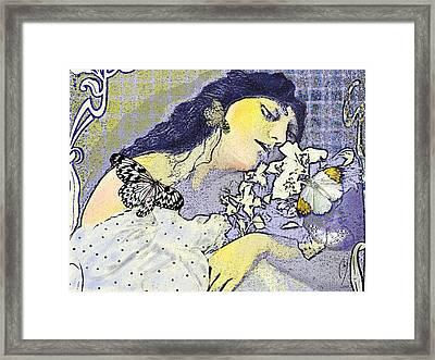 Pale April Framed Print by Maria Jesus Hernandez