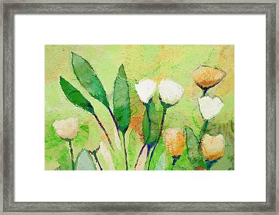 Pale Green Floral Framed Print by Lutz Baar
