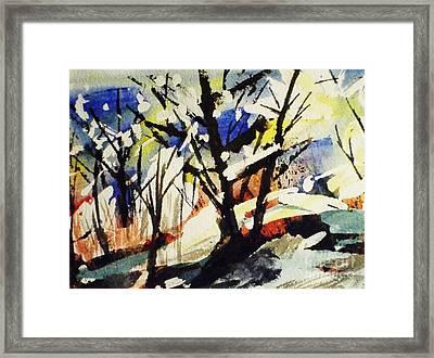 Palenville Winter Abstract - Catskills Framed Print by Ellen Levinson
