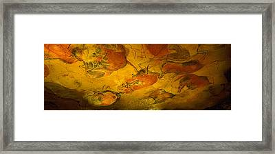 Paleolithic Paintings, Altamira Cave Framed Print by Panoramic Images