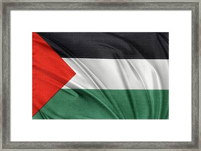 Palestine Flag Framed Print by Les Cunliffe