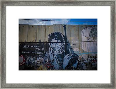 Palestinian Graffiti Framed Print by David Morefield