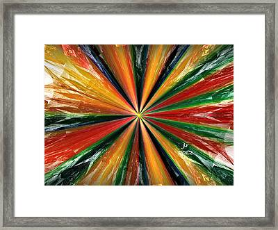 Palette Wheel Framed Print by Janet Russell