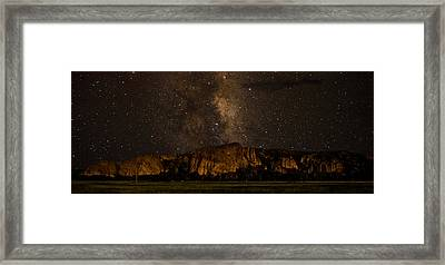 Palisades Under The Cosmos  Framed Print by Mike Schmidt