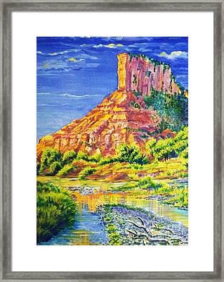 Palisiade At Gateway Colorado Framed Print by Annie Gibbons