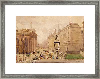 Pall Mall From The National Gallery Framed Print by Joseph Poole Addey