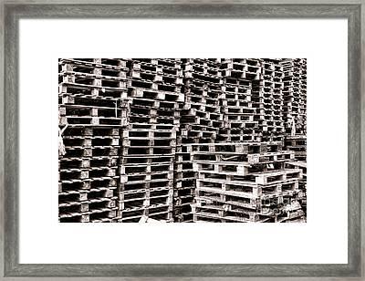 Pallets  Framed Print by Olivier Le Queinec