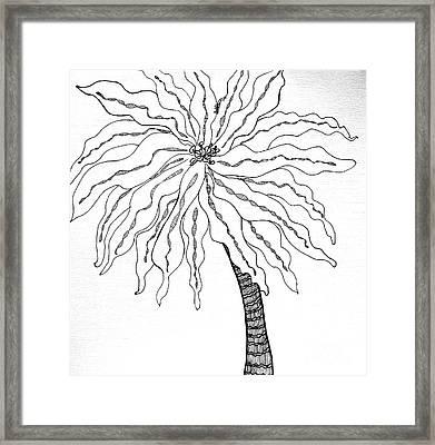 Palm Framed Print by Anita Lewis