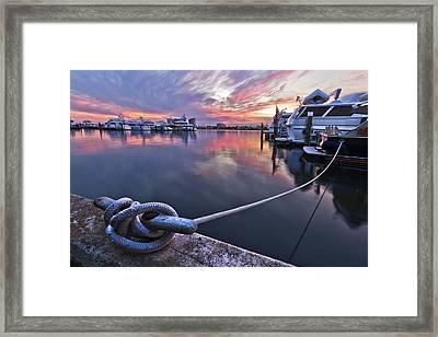 Palm Beach Harbor Framed Print by Debra and Dave Vanderlaan