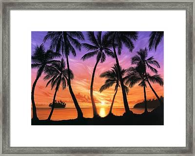 Palm Beach Sundown Framed Print by Andrew Farley