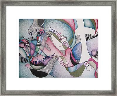 Palm Of My Hand Framed Print by Amanda Patrick