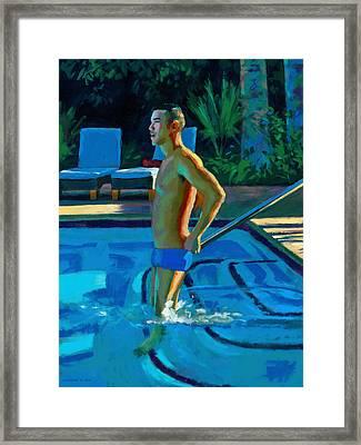 Palm Springs 6pm Framed Print by Douglas Simonson