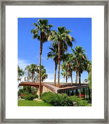 Palm Trees Through The Roof Framed Print by Randall Weidner