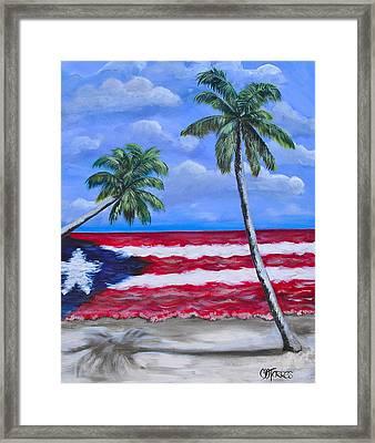 Palmas De Puerto Rico Framed Print by Melissa Torres