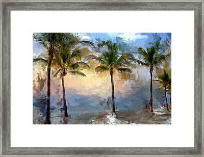 Palms At Fort Lauderdale Beach Framed Print by Evie Carrier
