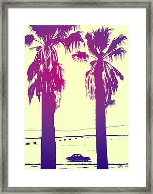 Palms Framed Print by Giuseppe Cristiano
