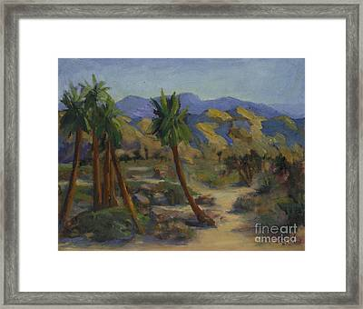 Palms In Abstract Framed Print by Maria Hunt