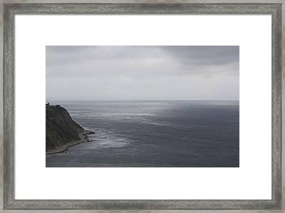 Palos Verdes In Rainy Day Framed Print by Viktor Savchenko