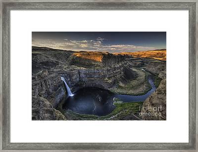 Palouse Falls Sunrise Framed Print by Mark Kiver