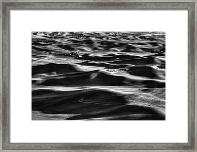Palouse In Black And White Framed Print by Mark Kiver