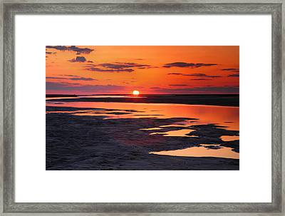 Pamlico Sunset Framed Print by Steven Ainsworth