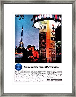 Pan Am To Paris Framed Print by Benjamin Yeager