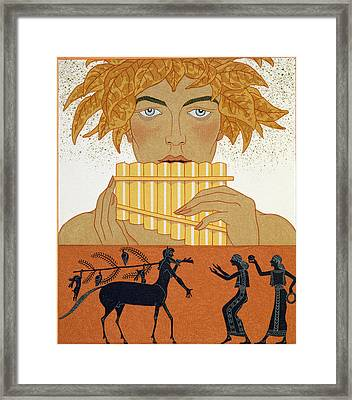 Pan Piper Framed Print by Georges Barbier